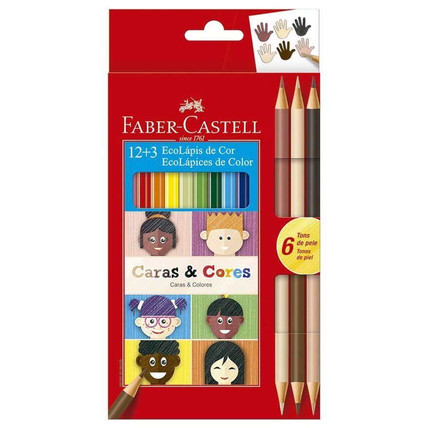 Lapis-de-Cor---Sextavado---Caras-e-Cores---12-Cores---3---Faber-Castell