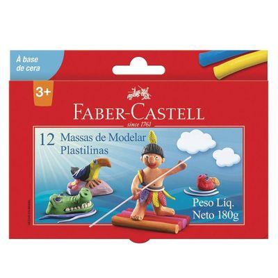 Massa-de-Modelar---Base-de-Cera---12-Cores---Faber-Castell