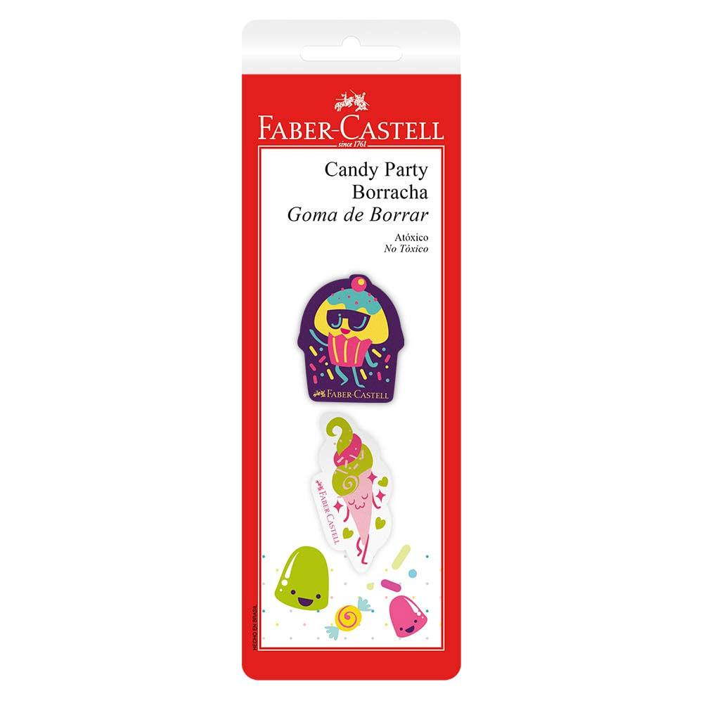 Borrachas Coloridas - Candy Party - 2 Unidades - Faber-Castell
