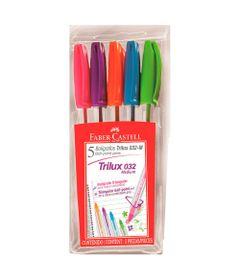 Caneta-Esferografica---10mm---Trilux-Colors---5-Unidades---Faber-Castell