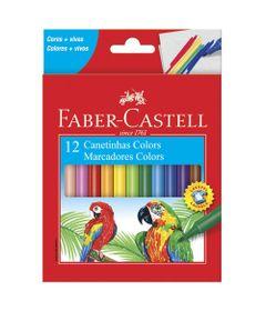 Canetas-Hidrograficas---12-Cores---Faber-Castell