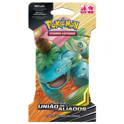 Deck-Pokemon---Blister-Unitario---Sol-e-Lua---Uniao-de-Aliados---Celebi-e-Venusaur---Copag