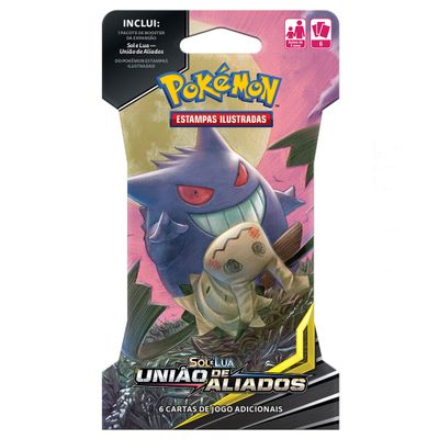 Deck-Pokemon---Blister-Unitario---Sol-e-Lua---Uniao-de-Aliados---Gengar-e-Mimikyu---Copag
