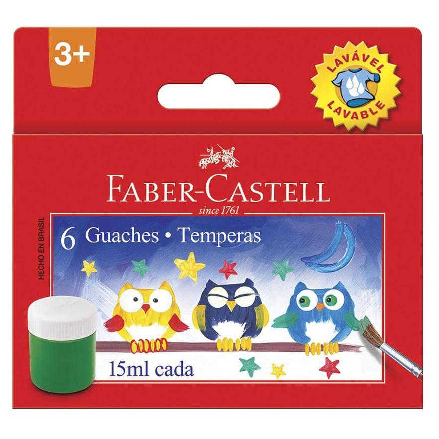 Tinta-Guache---Lavavel---15Ml---16-Cores---Faber-Castell