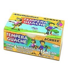 Tinta-Guache---Tempera-Guache---6-Cores---Acrilex