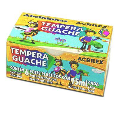 Tinta Guache Tempera Guache 6 Cores Acrilex