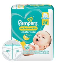 Fraldas-Descartaveis---Confort-Sec---20-Unidades---Pampers---RN-Plus