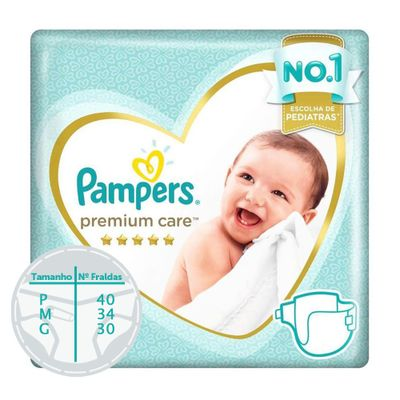 Fraldas-Descartaveis---Premium-Care---Pampers---G