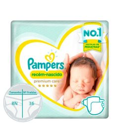 Fraldas-Descartaveis---Premium-Care---Pampers---RN