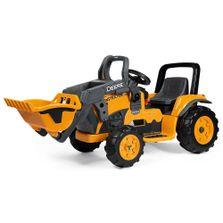 Mini-Trator-Eletrico---12V---Deere-Construction-Loader---Peg-Perego