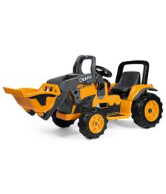 Mini-Trator-Eletrico---12V---Deere-Construction-Loader---Peg-Perego