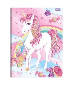 Caderno-de-Brochura---Caligrafia---Unicornio-IV---96-Folhas---Foroni