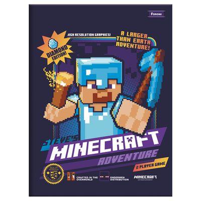 Caderno-de-Brochurao---Caligrafia---Minecraft---96-Folhas---Adventure---Foroni