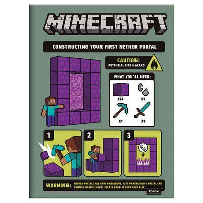 Caderno-de-Brochurao---Caligrafia---Minecraft---96-Folhas---Construction---Foroni