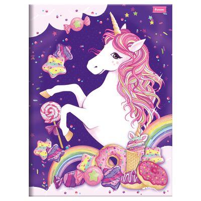 Caderno-de-Brochurao---Caligrafia---Unicornio-II---96-Folhas---Foroni