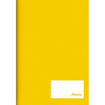 Caderno-de-Brochurao---Capa-Dura---Universitario---96-Folhas---Amarelo---Foroni