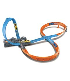 Pista-de-Percurso---Hot-Wheels---Figure-8-Raceway---Mattel