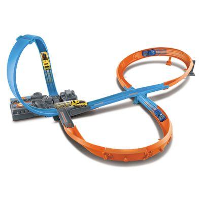 Pista-de-Percurso---Hot-Wheels---Figure-8-Raceway---Mattel