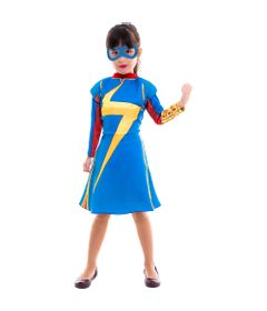 Fantasia Infantil - Disney - Marvel - Miss Marvel - Clássica - Global Fantasias - M