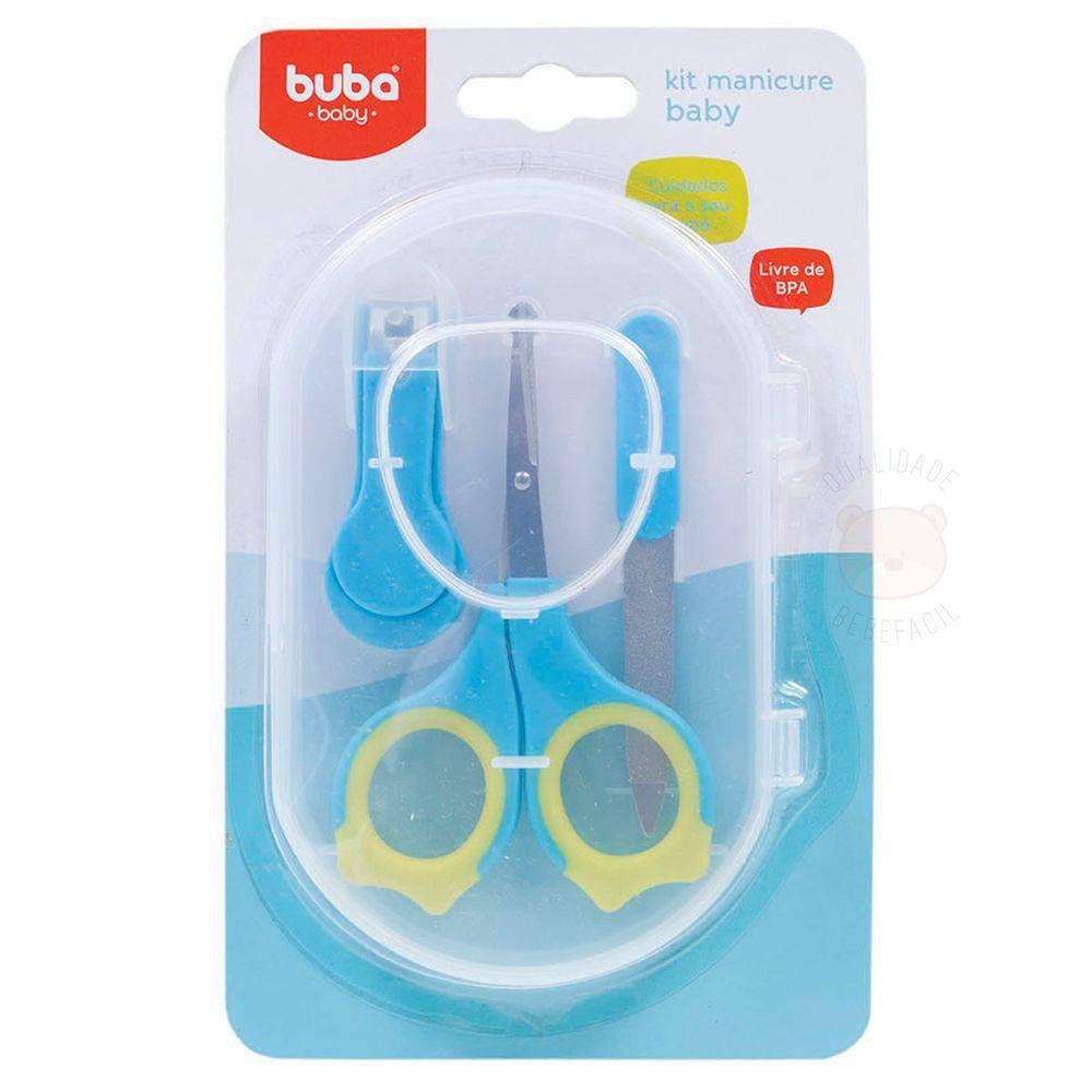 Conjunto de Higiene - 3 Unidades - Manicure Baby - Azul - Buba