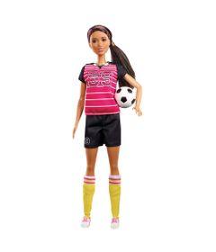 Boneca-Barbie-Colecionavel---Profissoes-60-Anos---Jogadora---de---Futebol---Mattel
