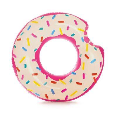 Acessorios-de-Praia-e-Piscina---Boia-Redonda---107-Cm---Rosquinha-Donut---Rosa---Intex