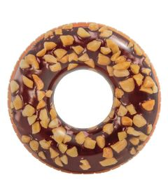 Acessorios-de-Praia-e-Piscina---Boia-Redonda---114-Cm---Rosquinha-Donut---Chocolate---Intex
