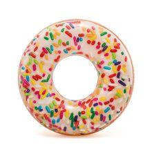 Acessorios-de-Praia-e-Piscina---Boia-Redonda---145-Cm---Rosquinha-Donut---Chocolate-Granulado---Intex