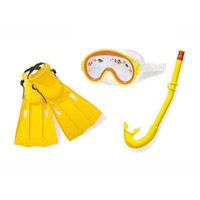 Acessorios-de-Praia-e-Piscina---Conjunto-de-Mergulho-Aventura---3-Pecas---Amarelo---Intex