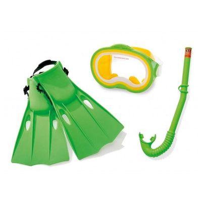 Acessorios-de-Praia-e-Piscina---Conjunto-de-Mergulho-Master---3-Pecas---Verde---Intex