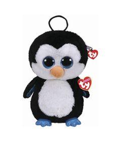 Mochila-de-Pelucia---TY---Waddles---Pinguim---DTC