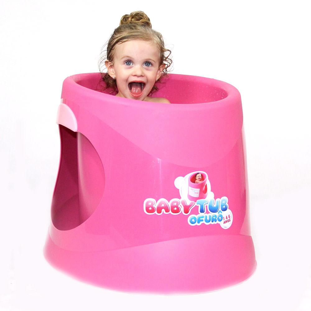 Banheira Babytub Ofurô - De 1 a 6 Anos - Rosa - Baby Tub