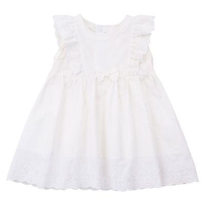 Vestido-com-Calcinha-e-Laco---Tricoline-e-Laise---Algodao---Branco---Minimi---P