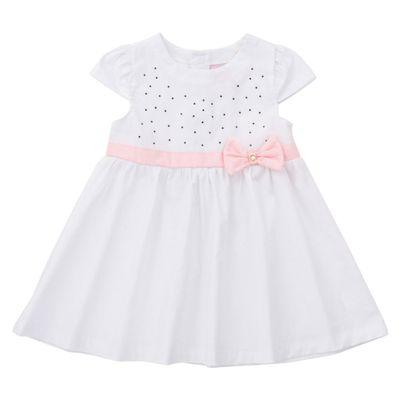 Vestido-com-Laco-e-Strass---Tricoline-e-Laise---Algodao---Branco---Minimi---P