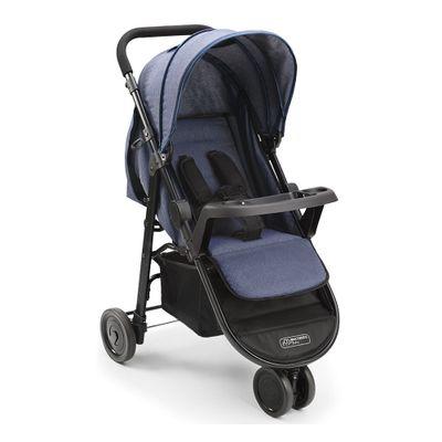 Carrinho-de-Passeio---3-Rodas---Agile---Jeans---Multikids-Baby