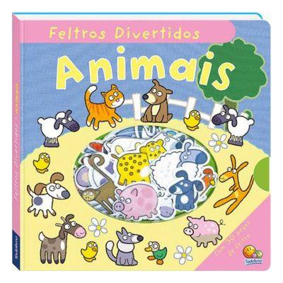 Livro-Infantil-com-30-Pecas-de-Feltro---Feltros-Divertidos---Animais---TodoLivro