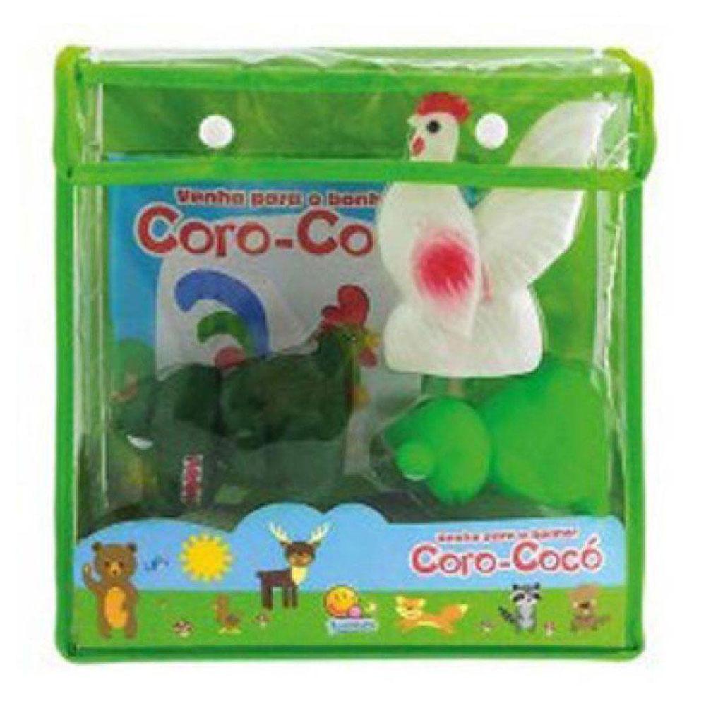 Livro Infantil com Animais de Borracha - Venha para o Banho! - Coro-Cocó - TodoLivro