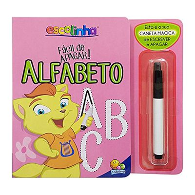 Livro-Infantil-com-Canetinha---Facil-de-Apagar---Alfabeto---TodoLivro