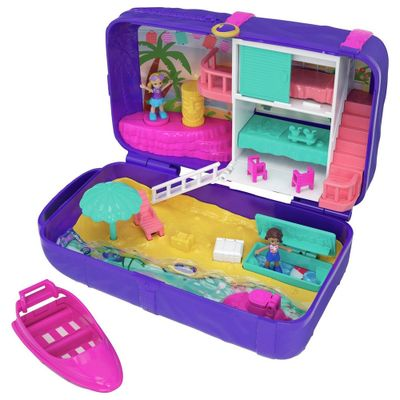 Playset-com-Boneca-e-Veiculo---Polly-Pocket---Polly-Lugares-Escondidos---Praia---Mattel