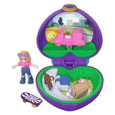 Playset-e-Boneca---Polly-Pocket---Estojo-Pequenos-Lugares---Coracao-Quarto---Mattel