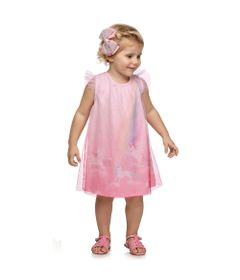 Vestido-Infantil---Jacquard---Unicornio---Rosa---Kamylus_Frente