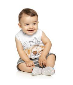 Conjuntinho-Infantil---Regata-Estampada-e-Shorts---Cachorrinho---Branco---Kamylus_Frente