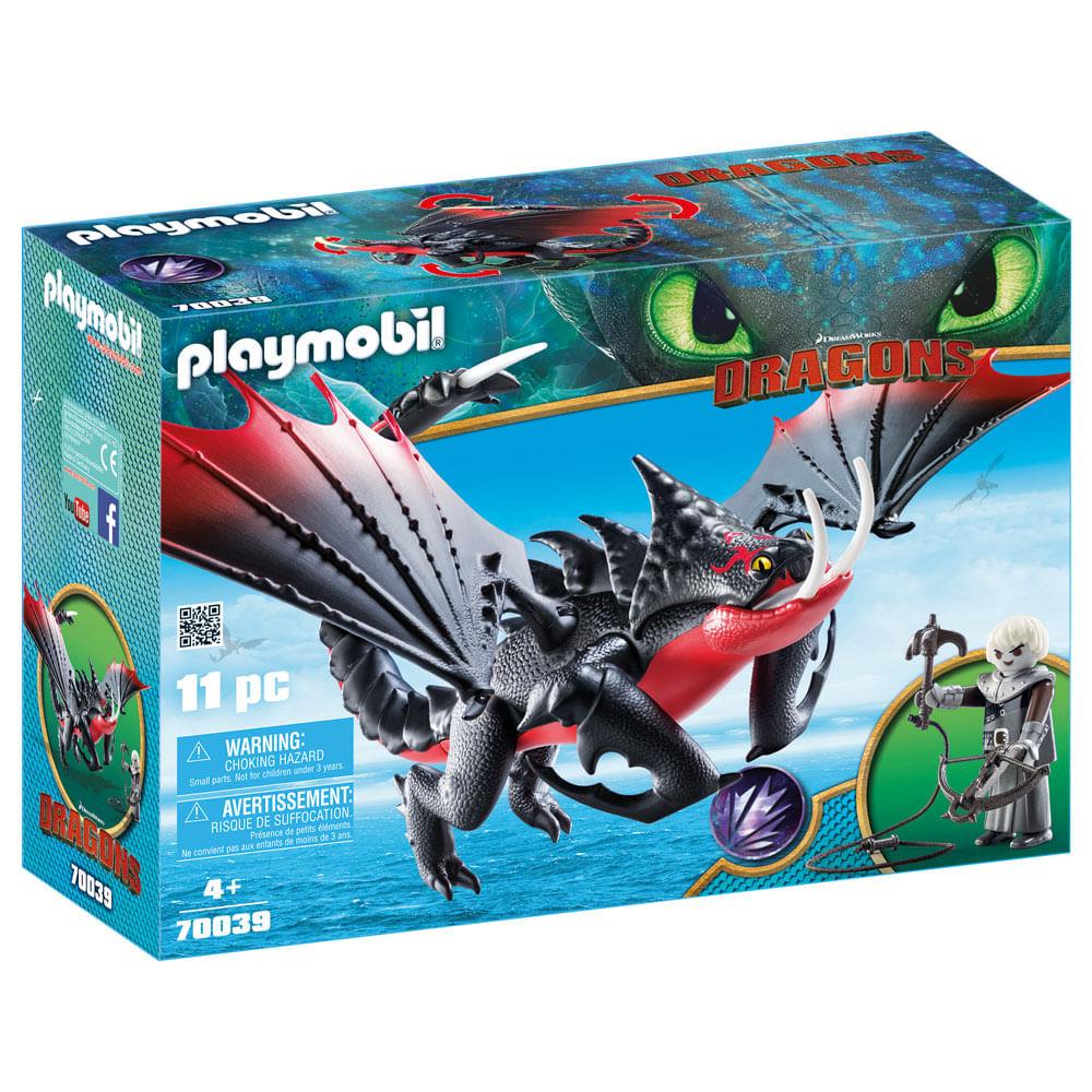 Playmobil - Como Treinar Seu Dragão 3 - Grimmel com Deathgripper - 70039 - Sunny
