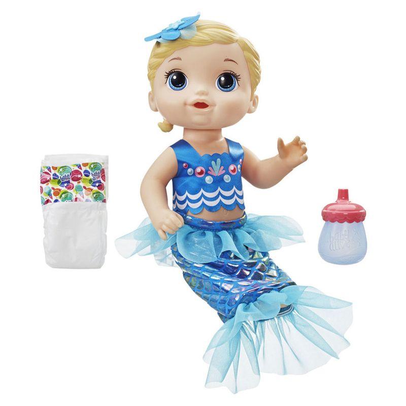 e474837a91 Boneca Baby Alive - Linda Sereia - Loira - Hasbro - PBKIDS