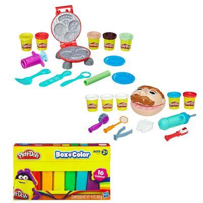 kit-massa-de-modelar-play-doh-festa-do-hamburger-hasbro-e-massinha-play-doh-refil-com-16-cores-hasbro_Frente1