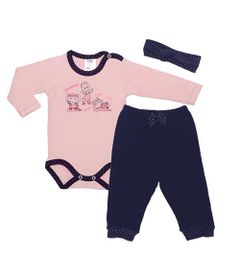 Conjunto-Body-Longo-Bailarina-e-Calca---P---Algodao---Rosa-e-Azul-Marinho---BB2