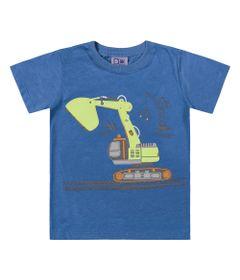 Camiseta-em-Algodao---Maquina-Escavadeira---Azul---Duduka