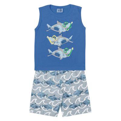 Conjunto-Bermuda-e-Regata-em-Algodao-e-Tactel---Tubarao---Azul---Duduka