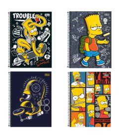 Cadernos-de-Espiral---Capa-Dura---Universitario---Os-Simpsons---96-Folhas---4-Unidades---Tilibra_Frente