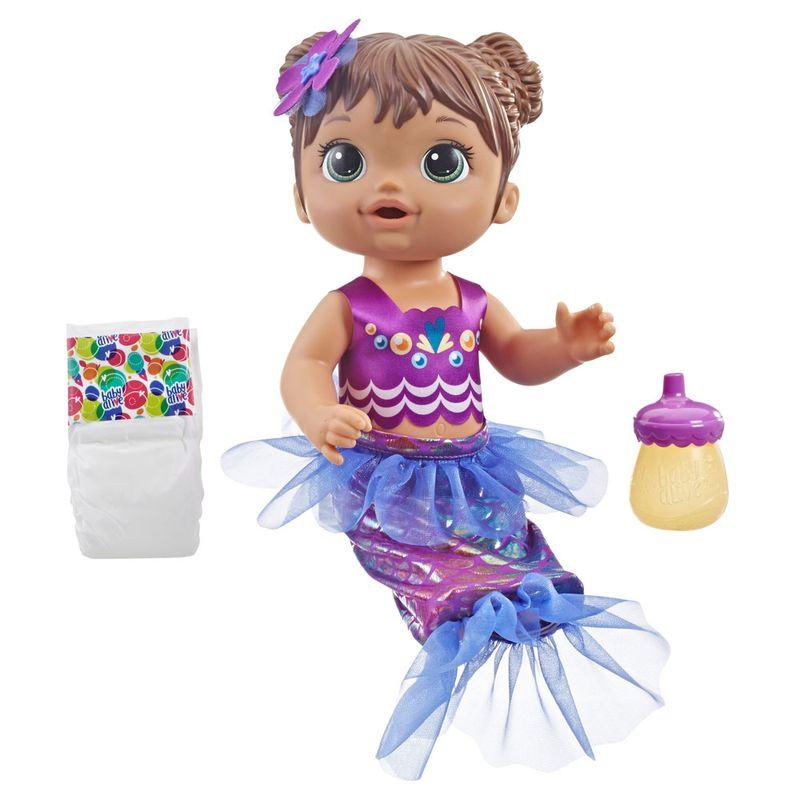 313cfcad32 Boneca Baby Alive - Linda Sereia - Morena - E3691 - Hasbro - Ri Happy  Brinquedos